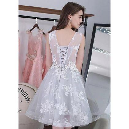 06111a955491 Hot Sale Mini Homecoming Prom Dress Short Silver Dresses With Lace ...