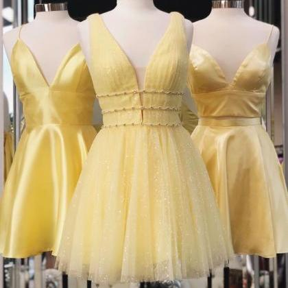 Princess A-line Short Yellow Homeco..