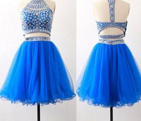 Royal blue two piece..