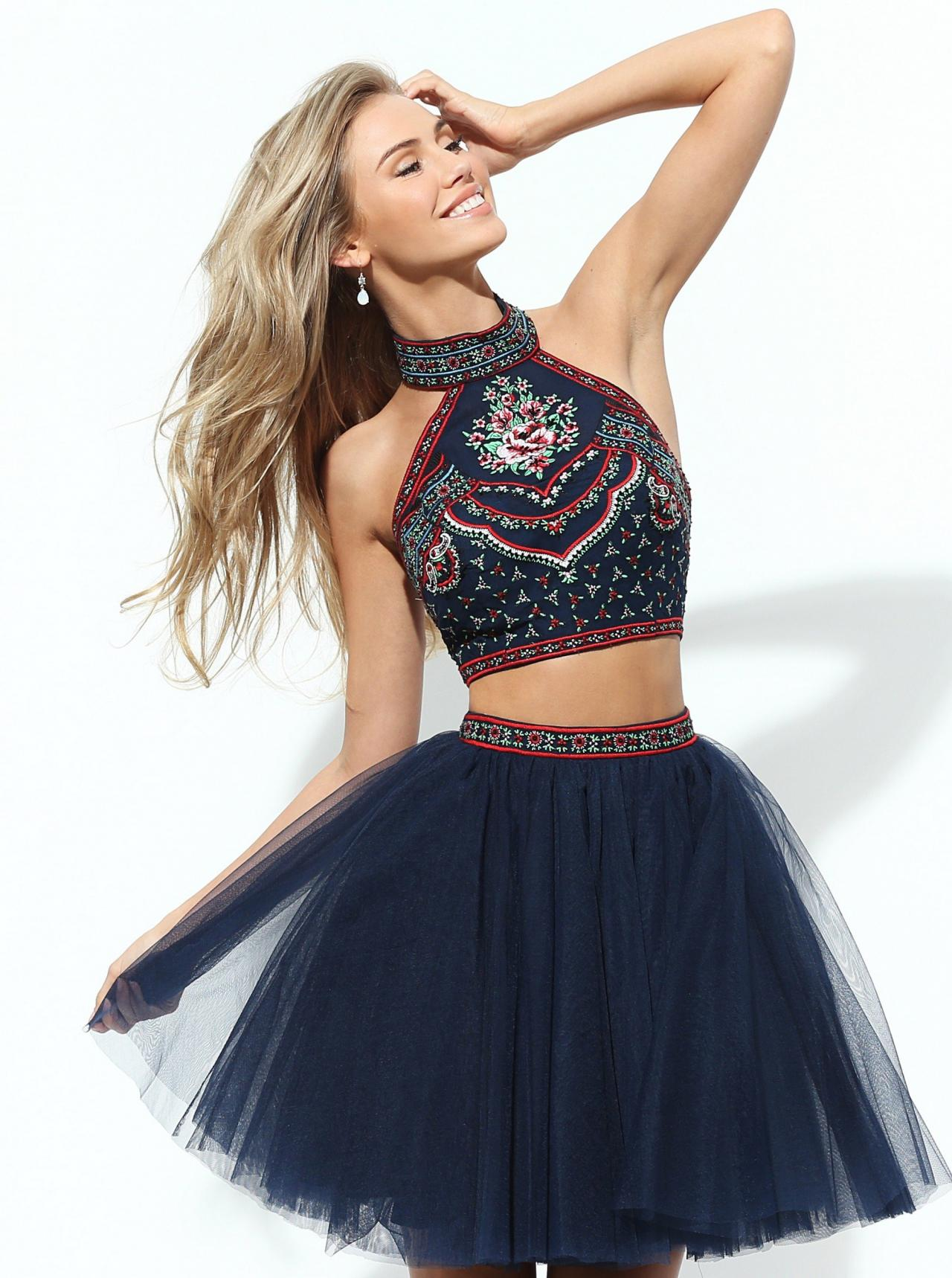 Two-Piece Short Sherri Hill Homecoming Dress 788d5d08e
