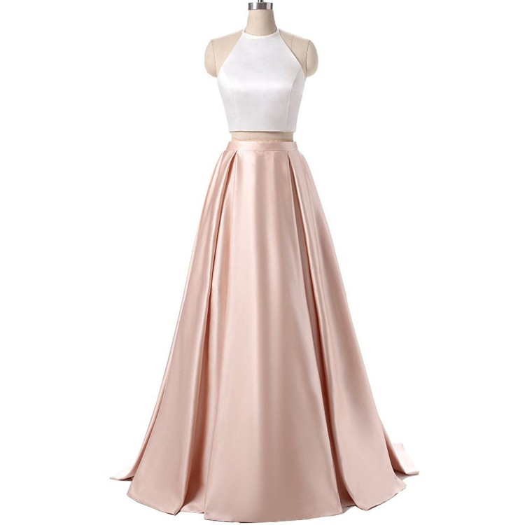 db84d0b7234 Two Pieces Customized Outstanding Pink Prom Dresses