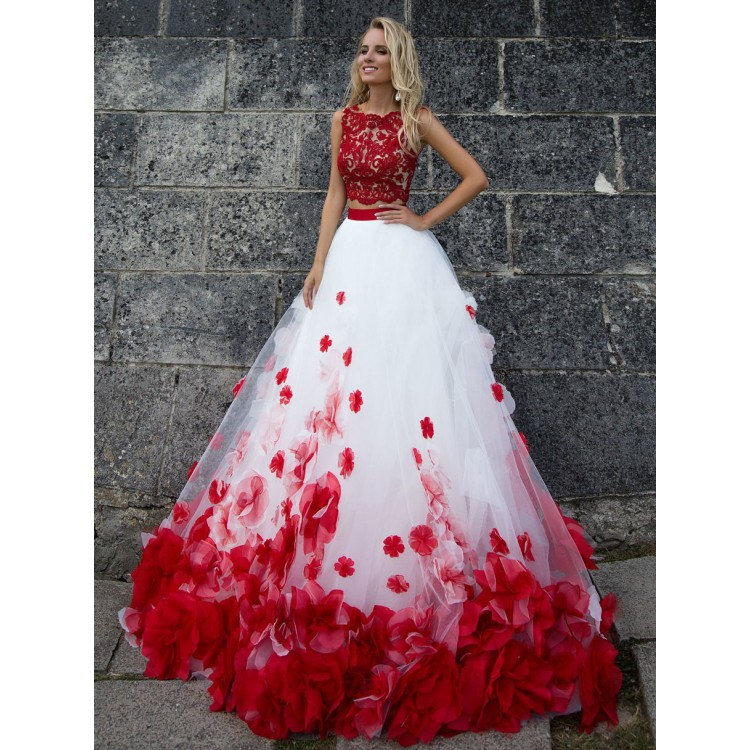 Red And White Wedding Dress.Sale Applique White Wedding Dresses Light Long Bateau Sleeveless Zipper Dresses