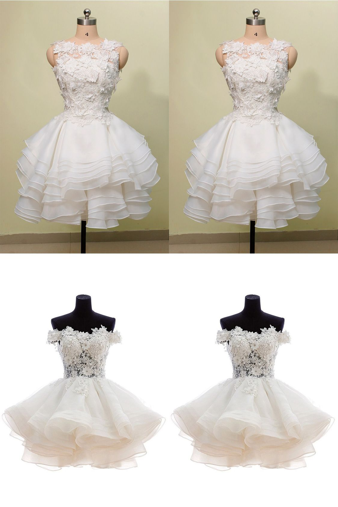 a3037e415199a short white party dresses, cute lace short prom dresses, cheap homecoming  dresses