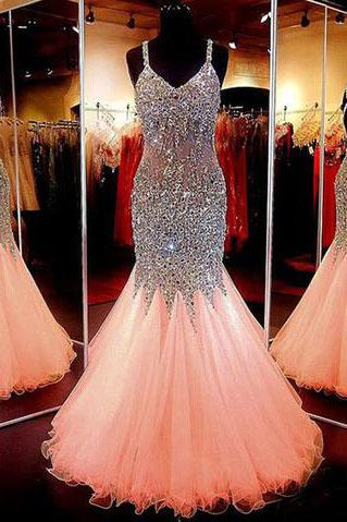 Beauty Sweetheart Neckline Mermaid Open Back Beading Pageant Formal Dresses
