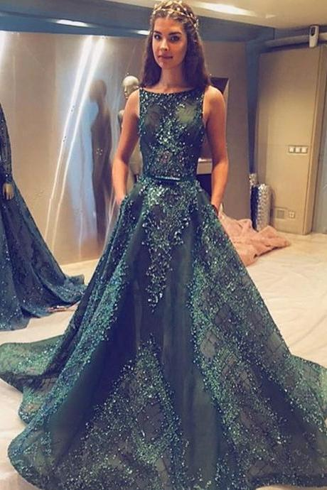 A Line Prom Dresses,Princess Prom Dresses,Long Prom Dress,Tulle Evening Dress,Hunter Green Prom Dresses,Long Formal Dresses