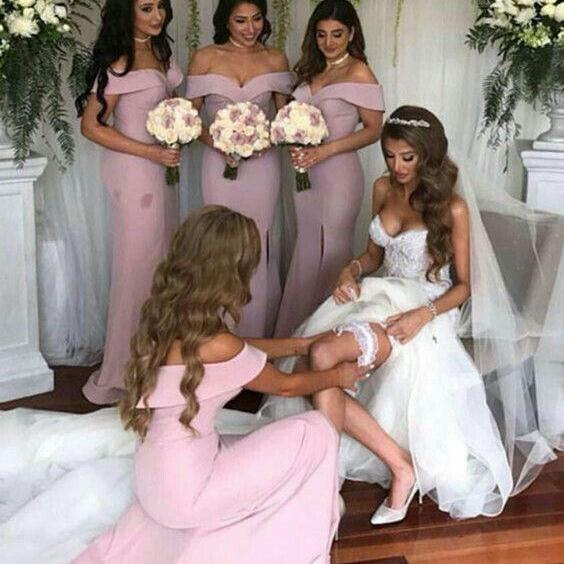 New Mermaid Bridesmaid Dress, Split Side Bridesmaid Dresses ,evening gowns