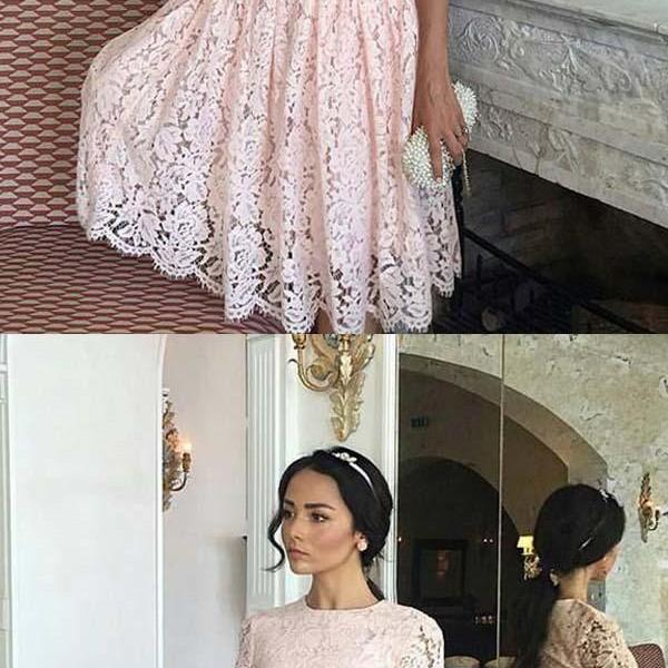 Hot Sale Substantial Homecoming Dress A-Line, Pretty Prom Dresses, Prom Dresses 2019, Homecoming Dress Lace
